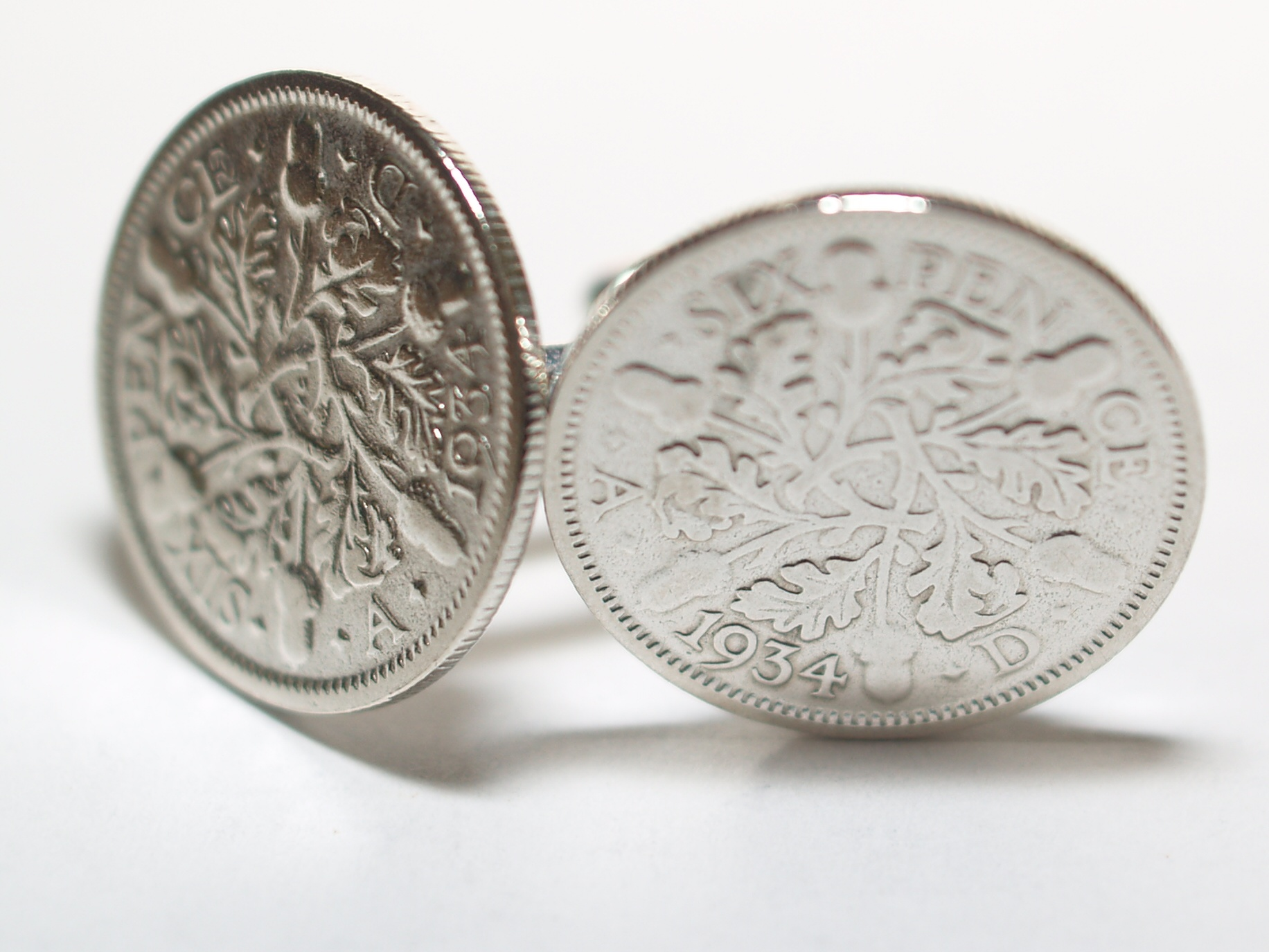 Sixpence for luck 1934 86th Birthday Cufflinks - WOW great gift - Cufflink box