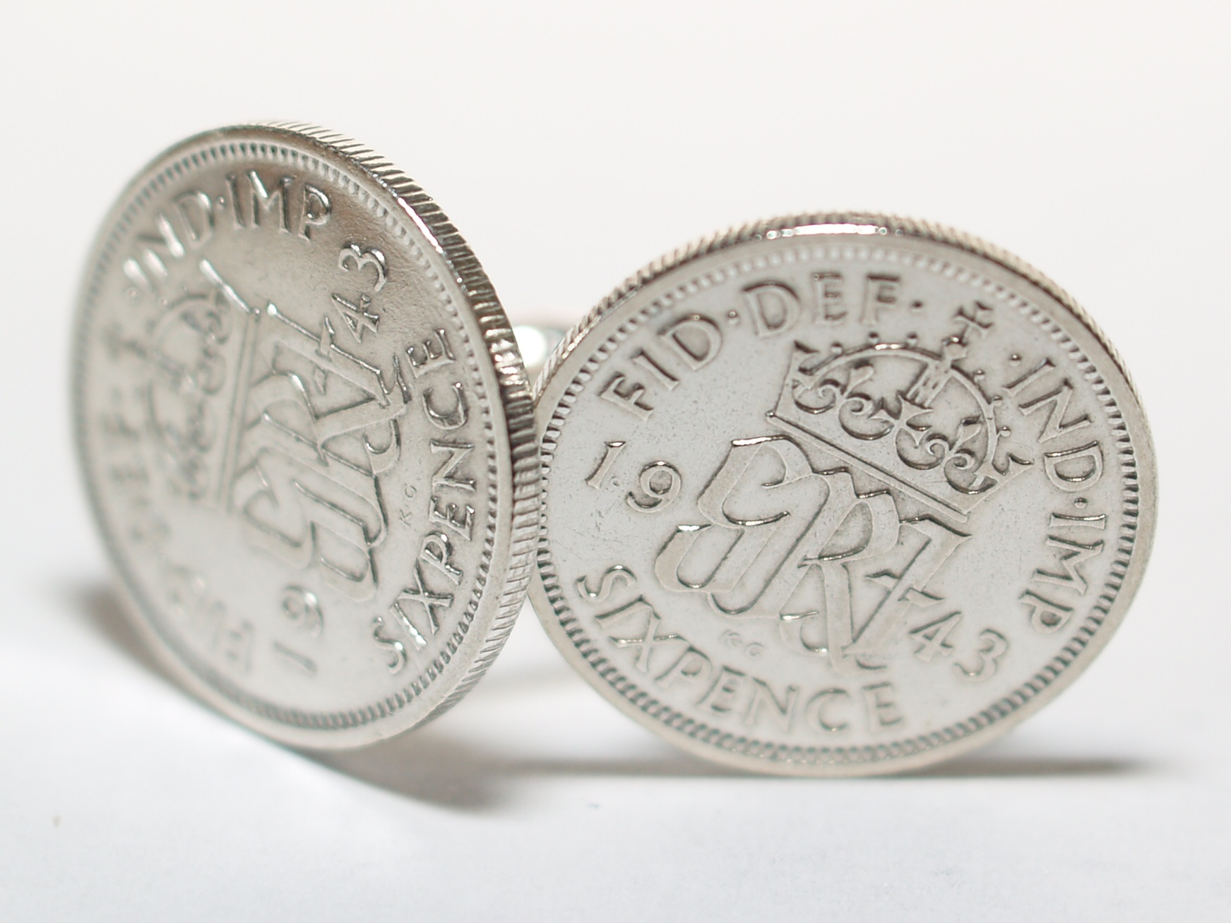 Sixpence for luck 1943 77th Birthday Cufflinks - WOW great gift - Cufflink box