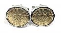 1939 Threepence 3d 81st birthday Cufflinks - 81st birthday 1939 cufflinks boxed (SLV)