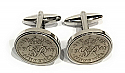 Sixpence for luck 1949 71st Birthday Cufflinks - WOW great gift - Cufflink box