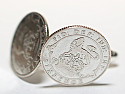 Sixpence for luck 1923 97th Birthday Cufflinks - WOW great gift - Cufflink box