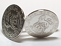 Sixpence for luck 1921 99th Birthday Cufflinks - WOW great gift - Cufflink box