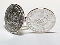Sixpence for luck 1925 95th Birthday Cufflinks - WOW great gift - Cufflink box