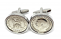 Sixpence for luck 1920 100th Birthday Cufflinks - WOW great gift - Cufflink box