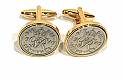 Sixpence for luck 1949 71st Birthday Cufflinks - WOW great gift - Cufflink box (Gld)