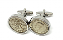Sixpence for luck 1950 70th Birthday Cufflinks - WOW great gift - Cufflink box