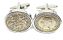 Sixpence for luck 1960 60th Birthday Cufflinks - WOW great gift - Cufflink box