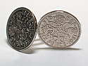 Sixpence for luck 1961 59th Birthday Cufflinks - WOW great gift - Cufflink box