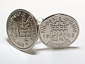 Sixpence for luck 1948 72nd Birthday Cufflinks - WOW great gift - Cufflink box