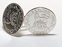 Sixpence for luck 1924 96th Birthday Cufflinks - WOW great gift - Cufflink box