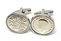 Sixpence for luck 1930 90th Birthday Cufflinks - WOW great gift - Cufflink box