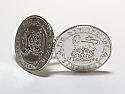 Sixpence for luck 1922 98th Birthday Cufflinks - WOW great gift - Cufflink box