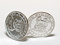 Sixpence for luck 1927 93rd Birthday Cufflinks - WOW great gift - Cufflink box