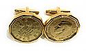 1945 Threepence 3d 75th birthday Cufflinks - 75th birthday 1945 cufflinks boxed