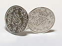 Sixpence for luck 1951 69th Birthday Cufflinks - WOW great gift - Cufflink box