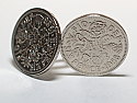 Sixpence for luck 1958 62nd Birthday Cufflinks - WOW great gift - Cufflink box